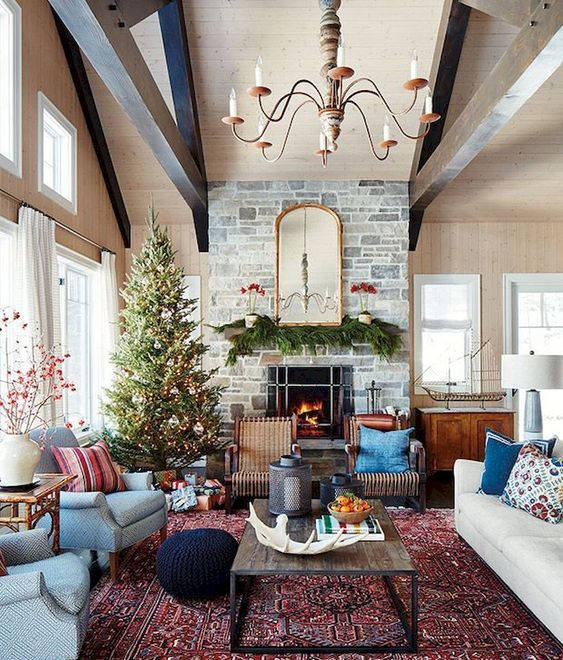 Some Cozy Ideas To Bring Christmas Spirit Home Using Persian Rugs Online Carpetu2